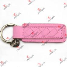 Pink PU Leather Keychain pour les gros anneaux de filles en gros (LKR15120406)