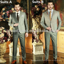 High Quality 2014 Men's Western Style Suits For Wedding Plaids&Checks Business Suits With One Button Three Pockets NB0583