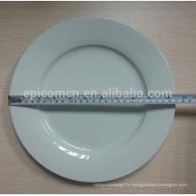 """Assiette ronde ronde à 10.5 """", assiette à la porcelaine de 10.5 pouces, assiette d'hôtel de 10.5 ''"""