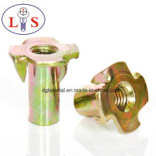 Hot Sales T Nut Furniture Nut with 4 Prongs
