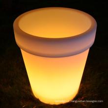 LED E27 Lampe fleur pot plastique LED coloré grande fleur vase décoratif