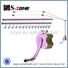 Elevación de ropa de techo secado racks de aluminio para balcones ropa de pared ropa de secado
