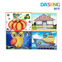 Mostrar tarjetas de mosaicos de palo para peel