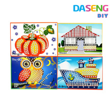 Display stick mosaics cards for kids peel