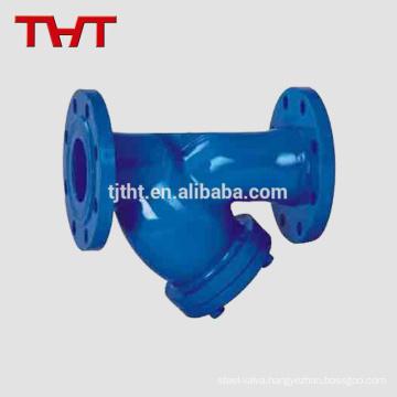 Y type plumbing Strainer filter flange with screen