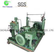 Oil Free Lubricating Hydrogen H2 Gas Piston Compressor