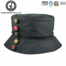 Botão colorido confortável Chapéu novo do balde da tampa do estilo
