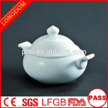 2014 hot sale hotel restaurant ball shape porcelain soup bowl with lid