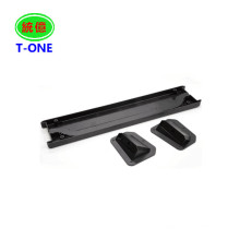 Customized injection plastic product/Precise rapid injection molded plastic parts Black
