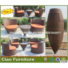 Ensemble de chaise de table de café de rotin extérieur de meubles de la Chine