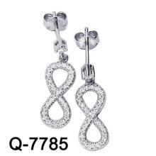 Modeschmuck 925 Sterling Silber Micro Einstellung unendlich Ohrring (Q-7785)