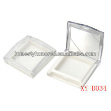 Square makeup empty pressed powder case /compact face powder case