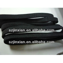 5MM-7MM Flat Black Plain Hair Elastic Bands,Elastic Hair Decoration