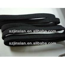 Faixas elásticas do cabelo liso preto liso de 5MM-7MM, decoração elástica do cabelo