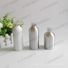 Bouteille de poudre en aluminium blanc avec dessus de tamis en aluminium