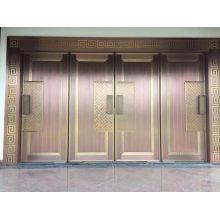 Portão de cobre barato e luxuoso
