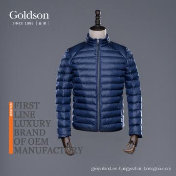 Chaqueta de invierno para hombre de ganso con marca italiana / Canadá con cremallera YKK