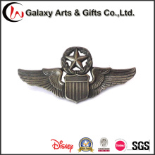 Factory Price Hot Selling Antique Nickel Badge for Eagle Wings