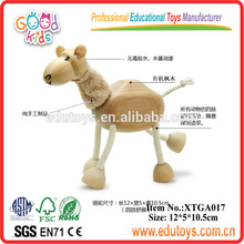 Educational animal kids wooden horse toys for children