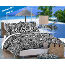 Leopardo impresión algodón Poliester Bedsheet (conjunto)