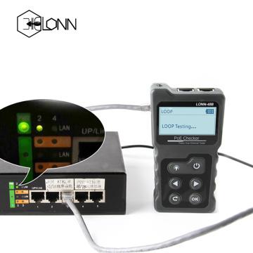 POE RJ45 RJ11 Coax Network Cable Length Tester