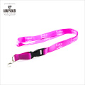 Pink Color Heat Transfer Printing Lanyard