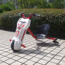 Mototec White Triker 12V Drift Scooter Ride - Lithium Battery Powered Bike