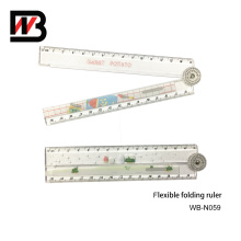 Office Stationery Color PS Plastic Folding Ruler