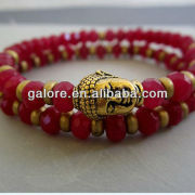 red colors jade jewelry buddha to buddha head bracelet
