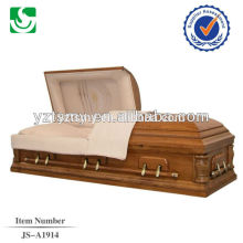 Good quality sale full couch cheap wooden casket