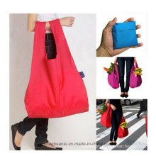 Polyester Large Durable Cheap Daily Use Folding Shopping Bag