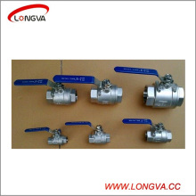 Sanitary Stainless Steel Two Piece Female Threaded Ball Valve