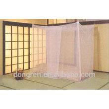 Полноразмерный портативный прямоугольный инсектицид, обработанный квадратной москитной сеткой для двуспальной кровати