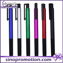 Metall Klick-Kugelschreiber mit Gummi-Griff
