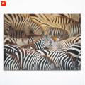 Herd of Zebras Land of Abundance Canvas Print