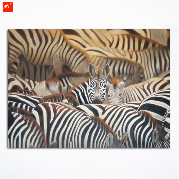 A Herd of Zebras Canvas Print