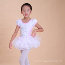 Tutu Dress With Swan Pattern, Girls Tutu Chffion Dress, Kids Stage Dance Clothes