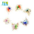 MC0053 Art Lampwork Inner Flower papillon à la main en verre pendentifs 12pcs / boîte