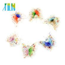 MC0053 Lampwork Art flor interna cristal hecho a mano mariposa colgantes 12 unids / caja