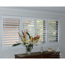 fauxwood material built-in shutter with pvc insert