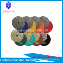 granite marble diamond polishing pads discos para pulir marmol
