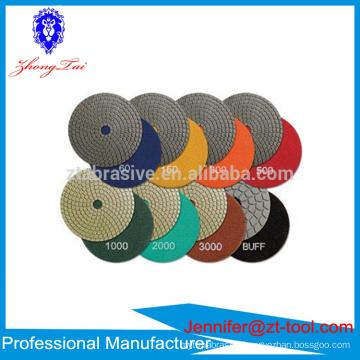 granite marble diamond polishing pads discos para pulir marmol