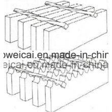 Гладкая или зубчатая оцинкованная стальная решетка, ступени лестницы, решетчатая решетка (производство в Аньпинге)