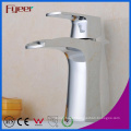 Fyeer Chrome Plated Simple Waterfall Single Handle Wash Basin Brass Faucet Water Mixer Tap Wasserhahn