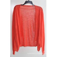 Manteau à manches longues Opean Pure Color Knit Cardigan pour femme