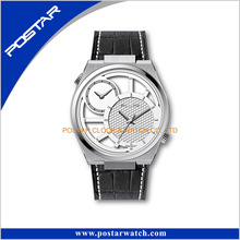 OEM Custom Stainless Steel Watch Double Dial Quartz Wrist Watch