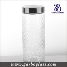 Lidded garrafa de vidro Tall & Food Container (GB2101WG-1)
