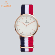 Men′s Quartz Watches Canvas Band Luxury Brand Wristwatches 72649