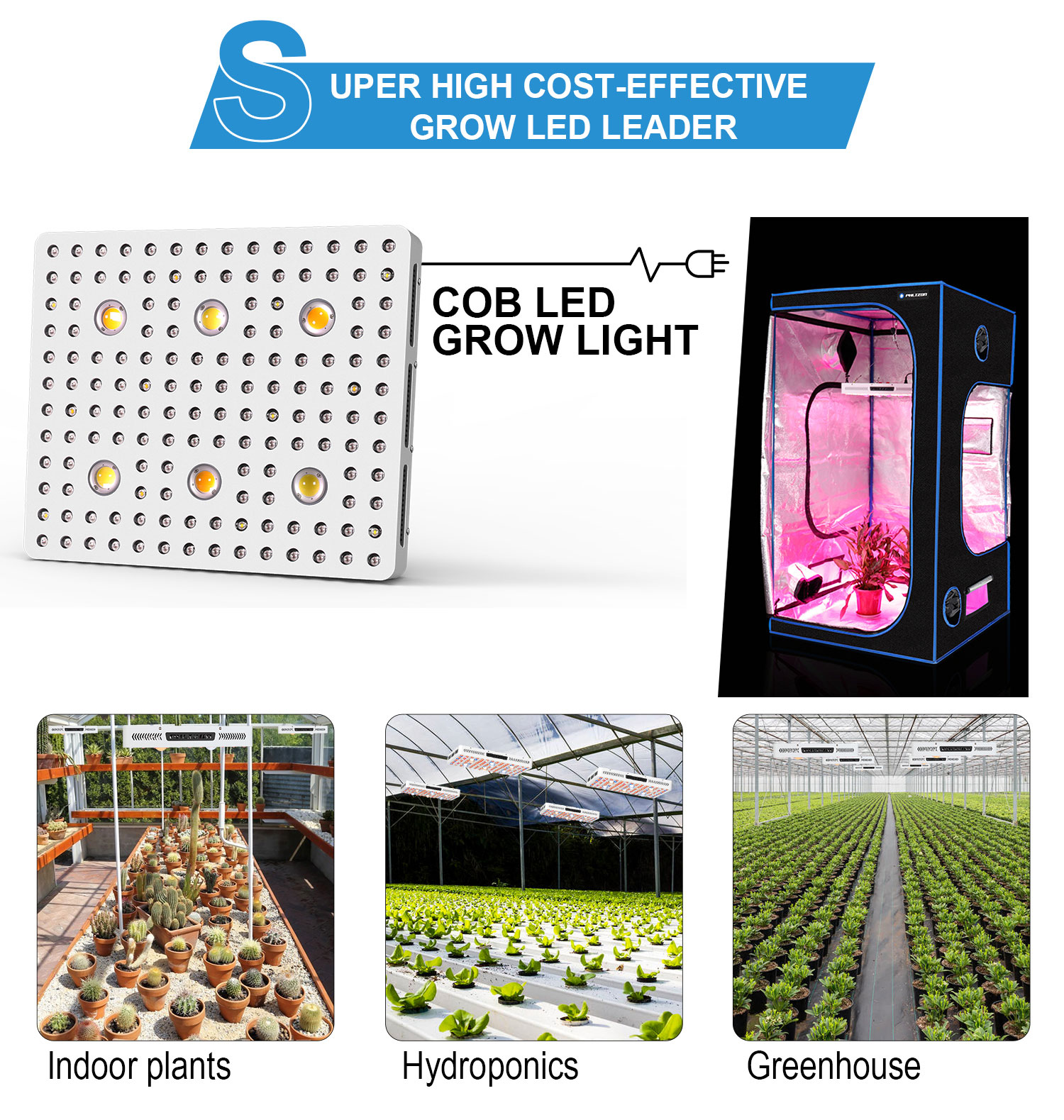led grow light 3000w