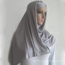 Maillot musulman islamique simple et solide, hijab long fait de 100% de viscose